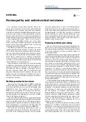 Homeopathy and antimicrobial resistance