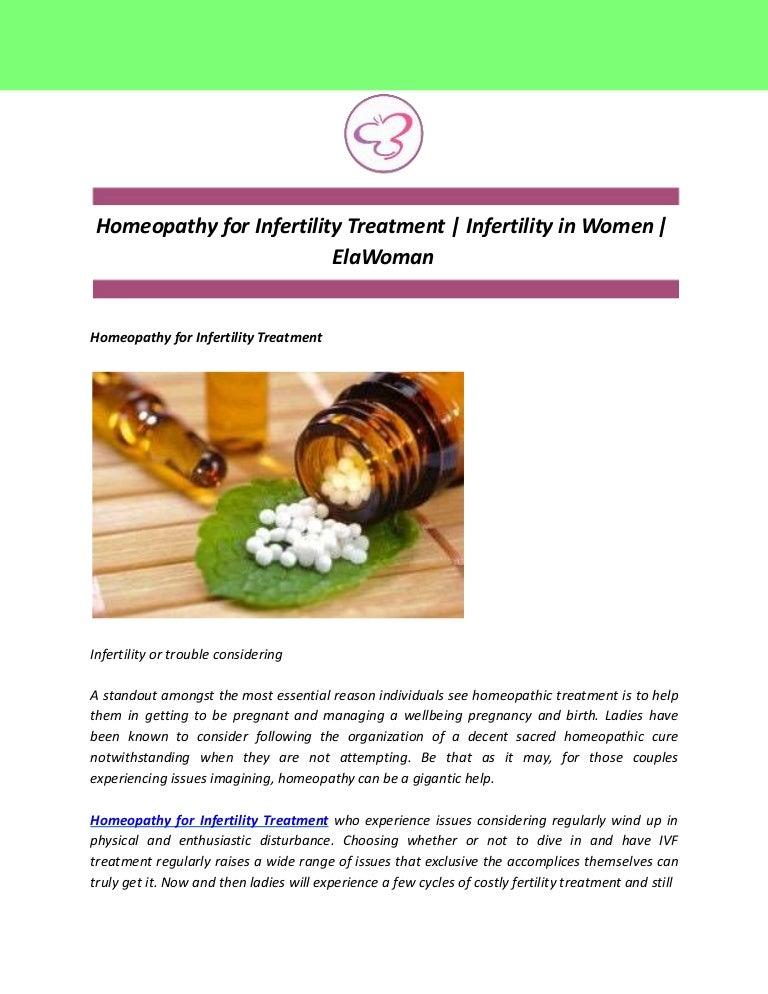Homeopathy for Infertility Treatment | Infertility in Women