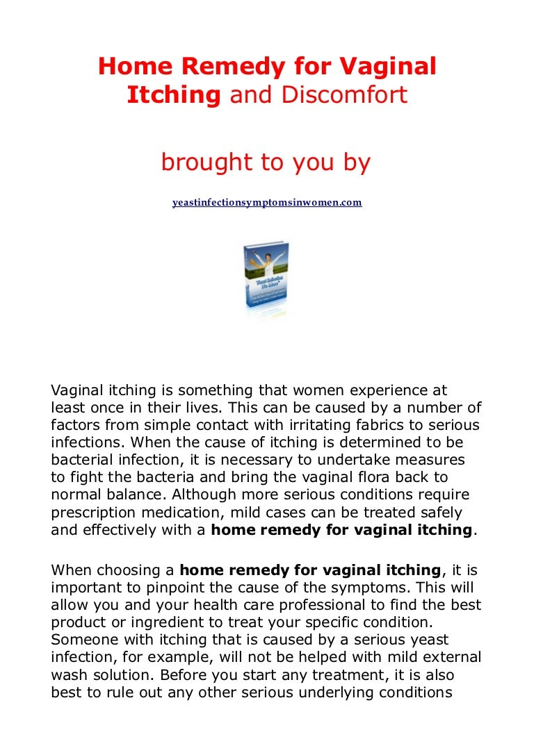 Causes of itching in the vagina
