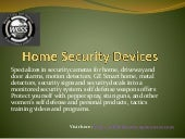 Home security devices