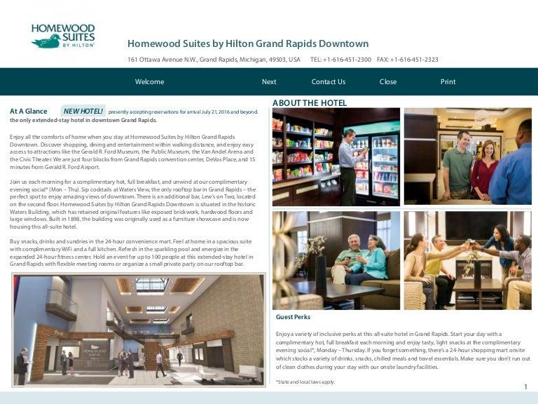 Homewood Suites by Hilton Grand Rapids Downtown MI Hotel Lifestyle eB…