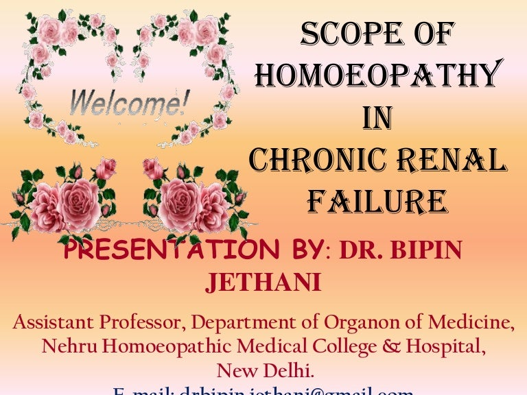 Homoeopathy in chronic renal failure