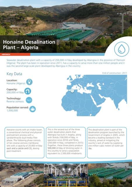 Honaine desalination plant