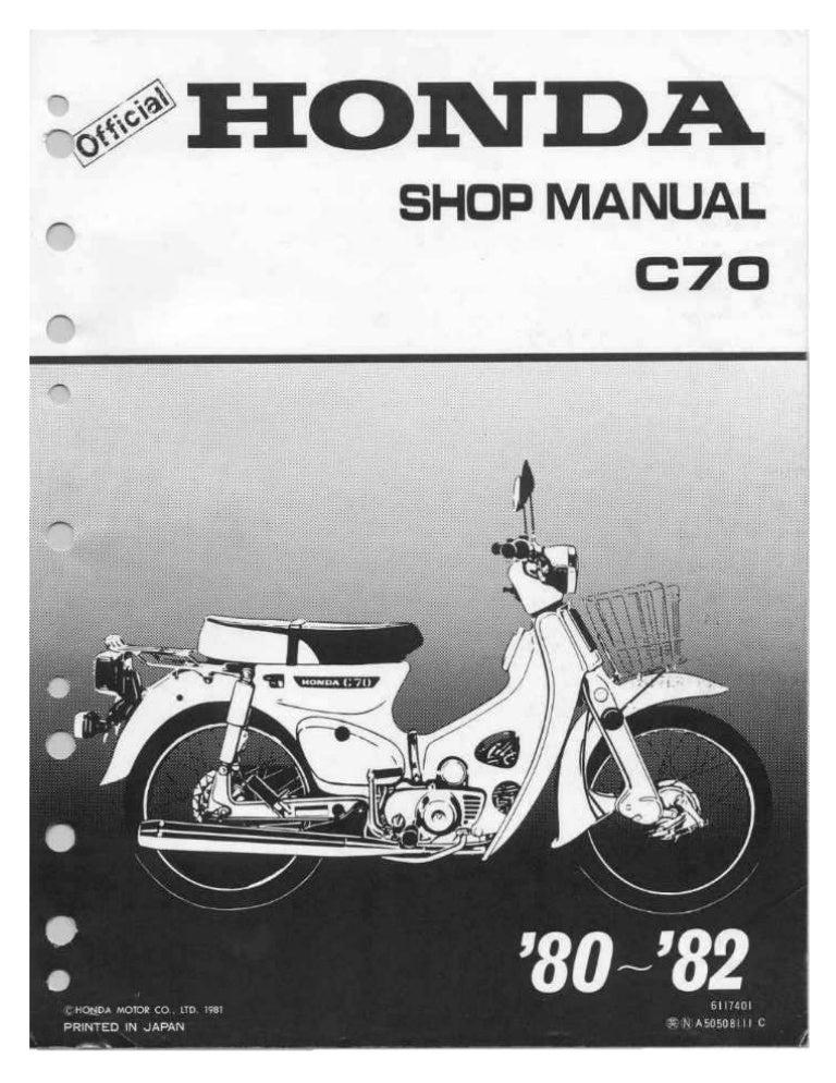 honda cup c70 passport 80 81 service manual rh slideshare net Honda Motorcycle Repair Shop Honda Shadow Motorcycle