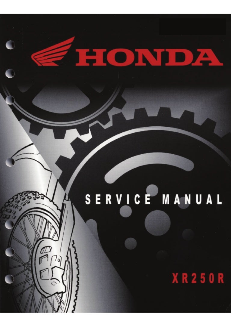 honda xr250r service manual 1996 2004 rh slideshare net