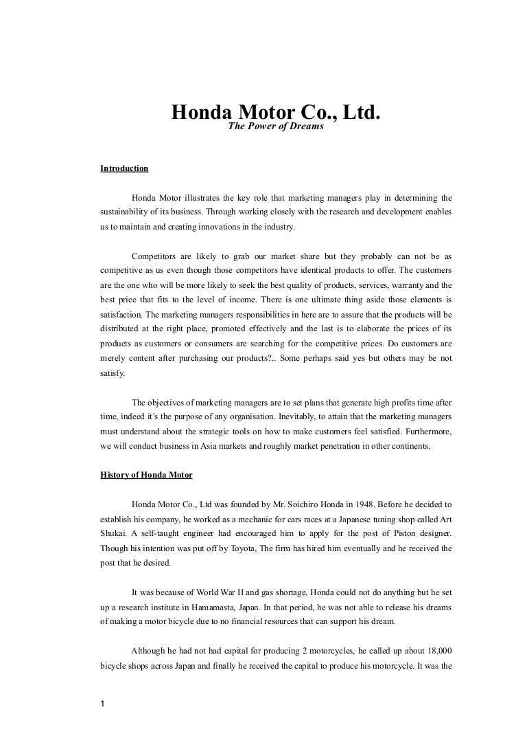 marketing strategy of honda two wheeler