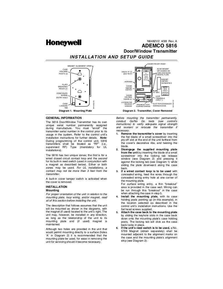 Honeywell 5816
