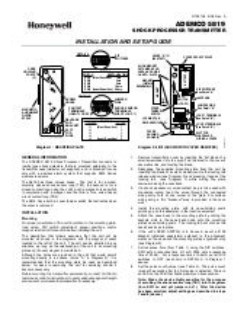 Honeywell 5818mnl-install-guide