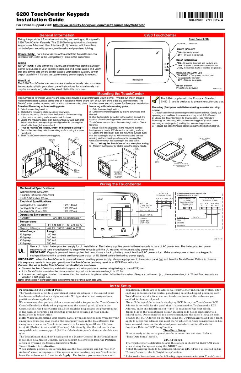 Honeywell 6280 install guide on wiring diagram for alarm keypad house alarm wiring diagrams pdf Start Switch Wiring Diagram