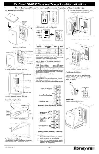 Honeywell fg730-install-guide
