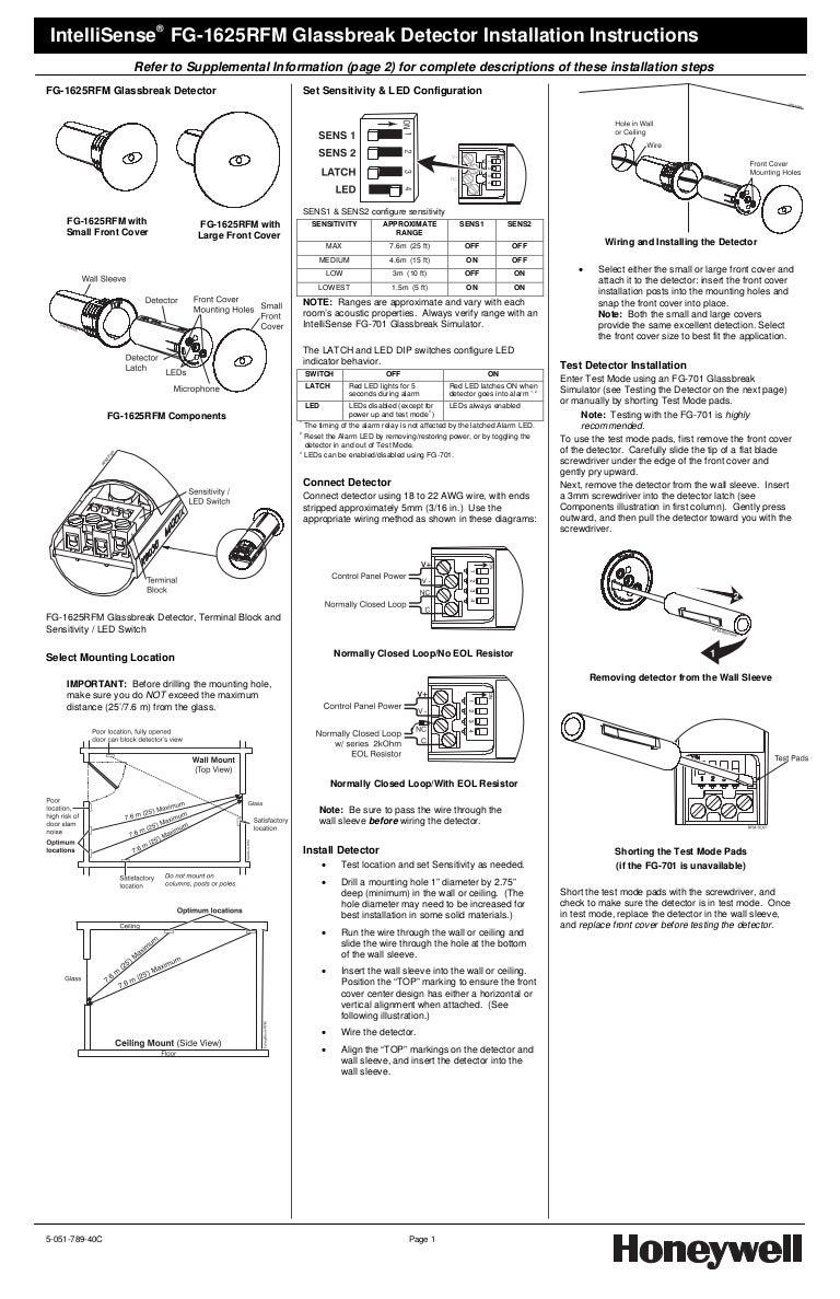 Honeywell Fg1625rfm Install Guide F G Block Diagram