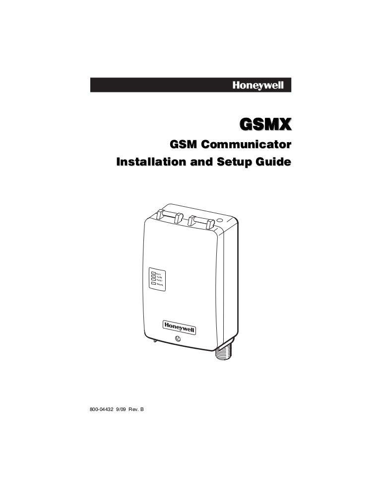 Honeywell gsmx-install-guide