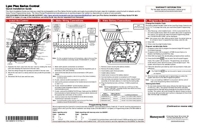 honeywell l3000 quick install guide rh slideshare net honeywell installation manual pro 6000 honeywell installation manual pdf