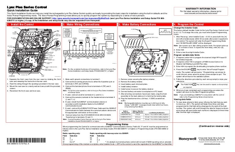 Honeywell l3000 quick install guide asfbconference2016 Choice Image