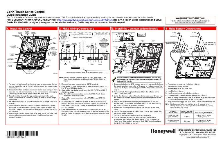 honeywell l5000 quick install guide rh slideshare net honeywell lynx plus installation manual honeywell lynx plus programming manual