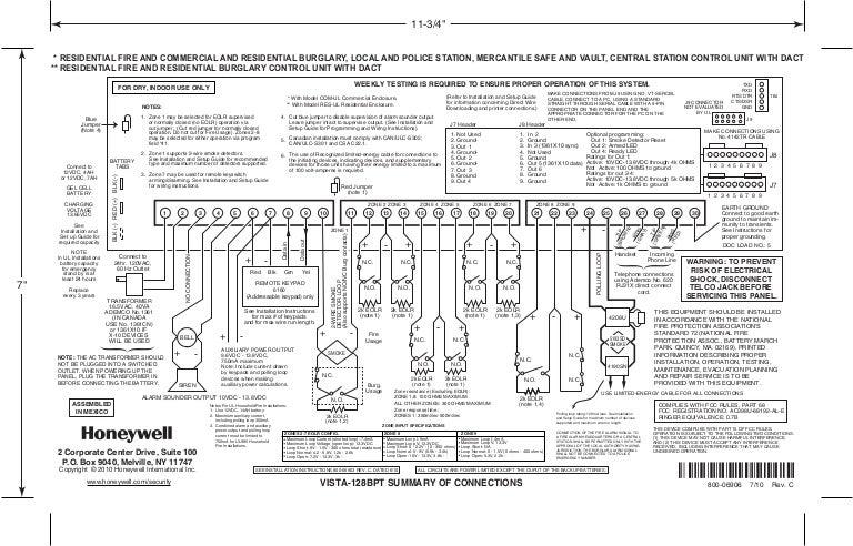 Ademco Vista 128bp Installation Manual Pdf