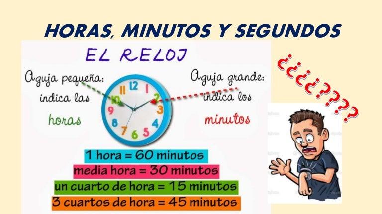 Horas, minutos y segundos