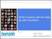 What business should really do with Facebook, Mesh Conference 2010 presentation