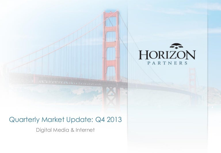 Horizon Partners Q4 2013 Newsletter