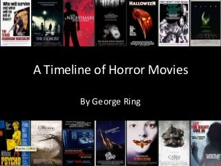 A Timeline of Movies - Horror