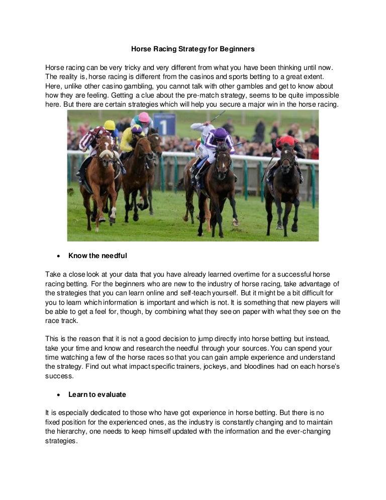 Horse racing betting information betting world 1900