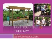 Horticulture Is Therapy