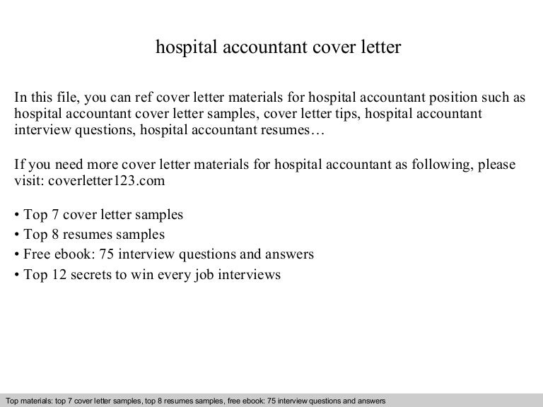 hospital accountant cover letter - Accounting Cover Letter