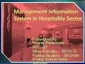 Management Information Systems in Hospitality Sector
