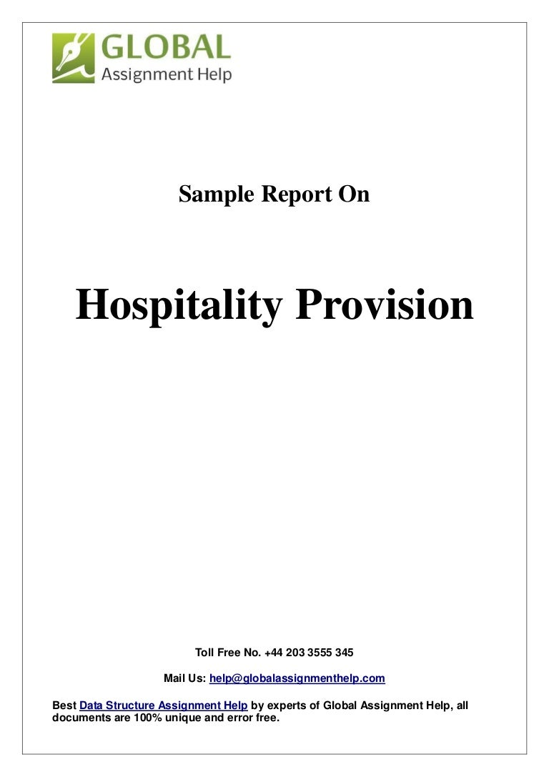 sample on hospitality provision by global assignment help