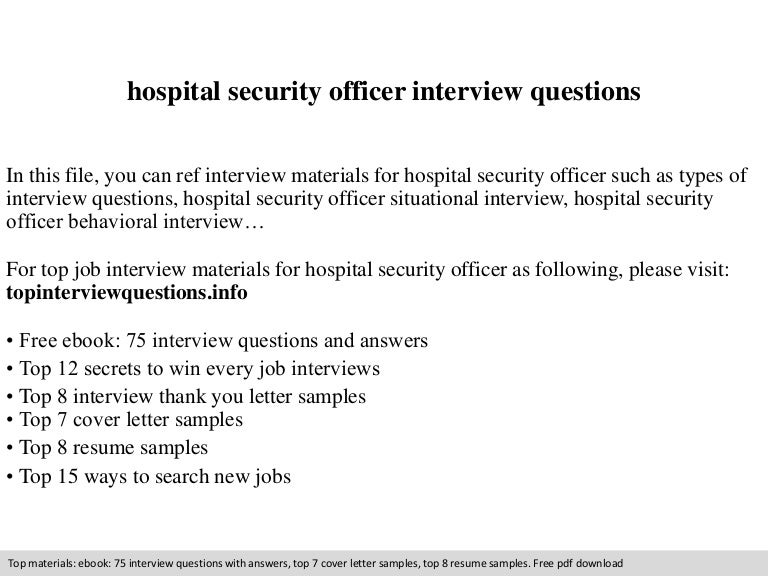 Marvelous Security Officer Interview Questions #5: SlideShare