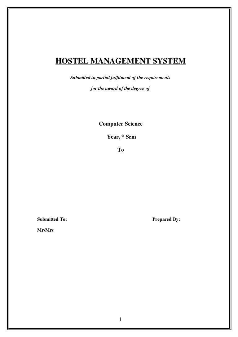 Hostel Management Symbols Process Flow Diagram Entity Relationship