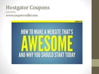 Hostgator coupon web hosting discount offers with 0.01 dollar