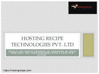 Get wordpress hosting with Hosting recipe technologies pvt Ltd