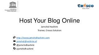Host Your Blog Online