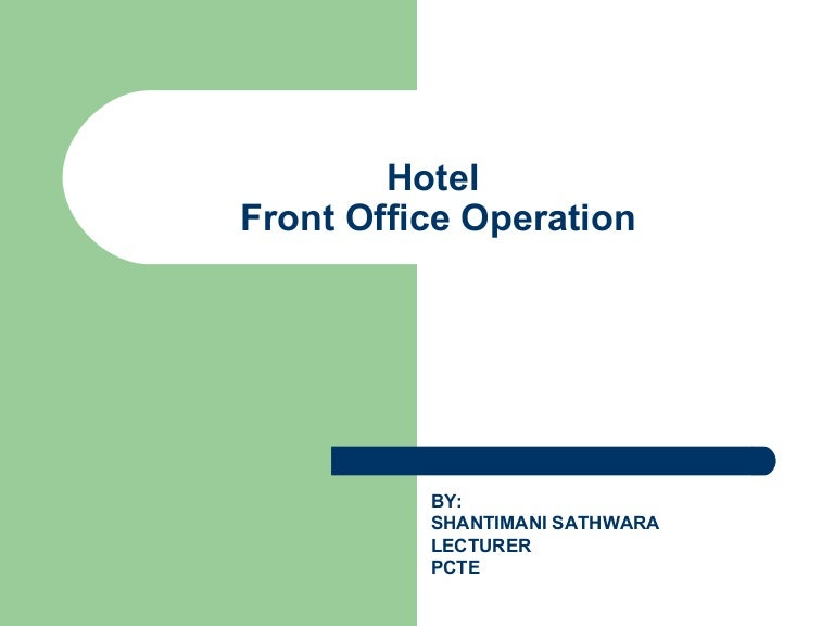 Introduction to hotel front office altavistaventures Images