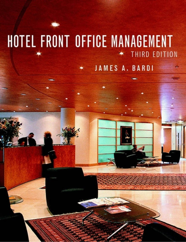 front office management paper The front office manager who comes under the direct supervision of the director of rooms and supervises the front office department important of front office department to the hotel hospitality, warm welcome often provide first and last impression.