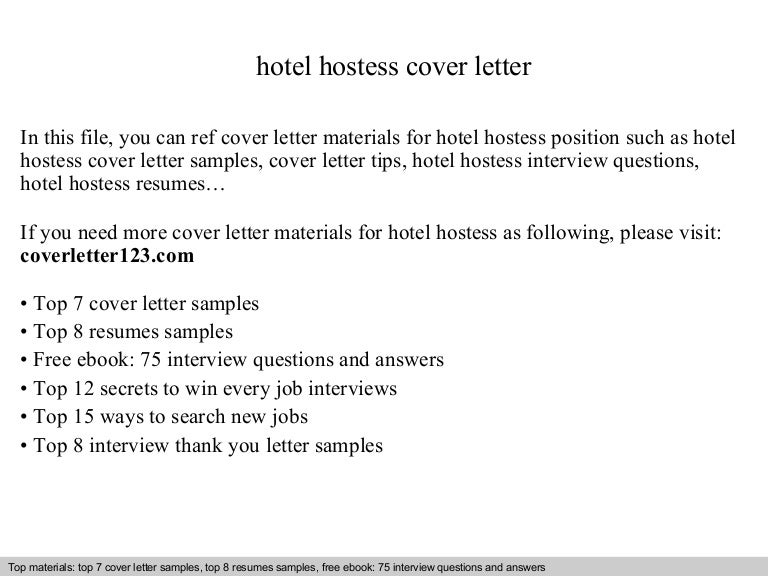 Hotel Hostess Cover Letter. Cafe Server 9+ Server Cover Letter