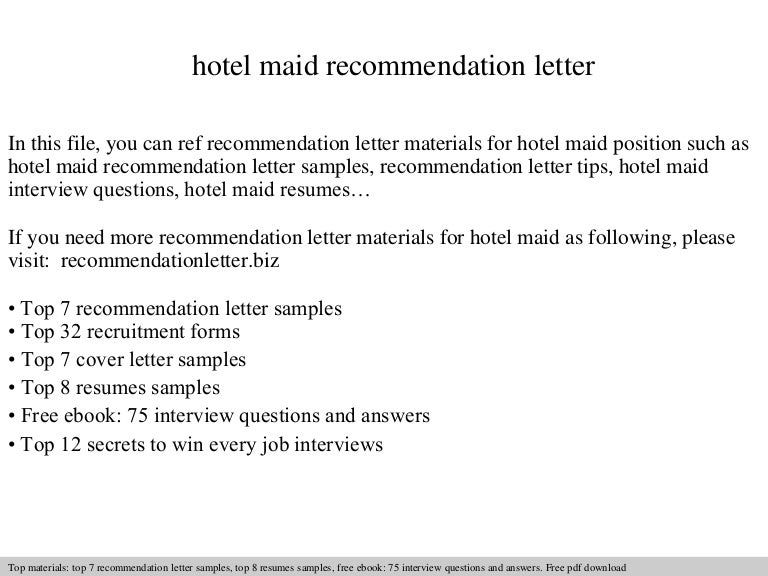Hotel maid recommendation letter hotelmaidrecommendationletter 140826220236 phpapp02 thumbnail 4gcb1409090567 spiritdancerdesigns Images
