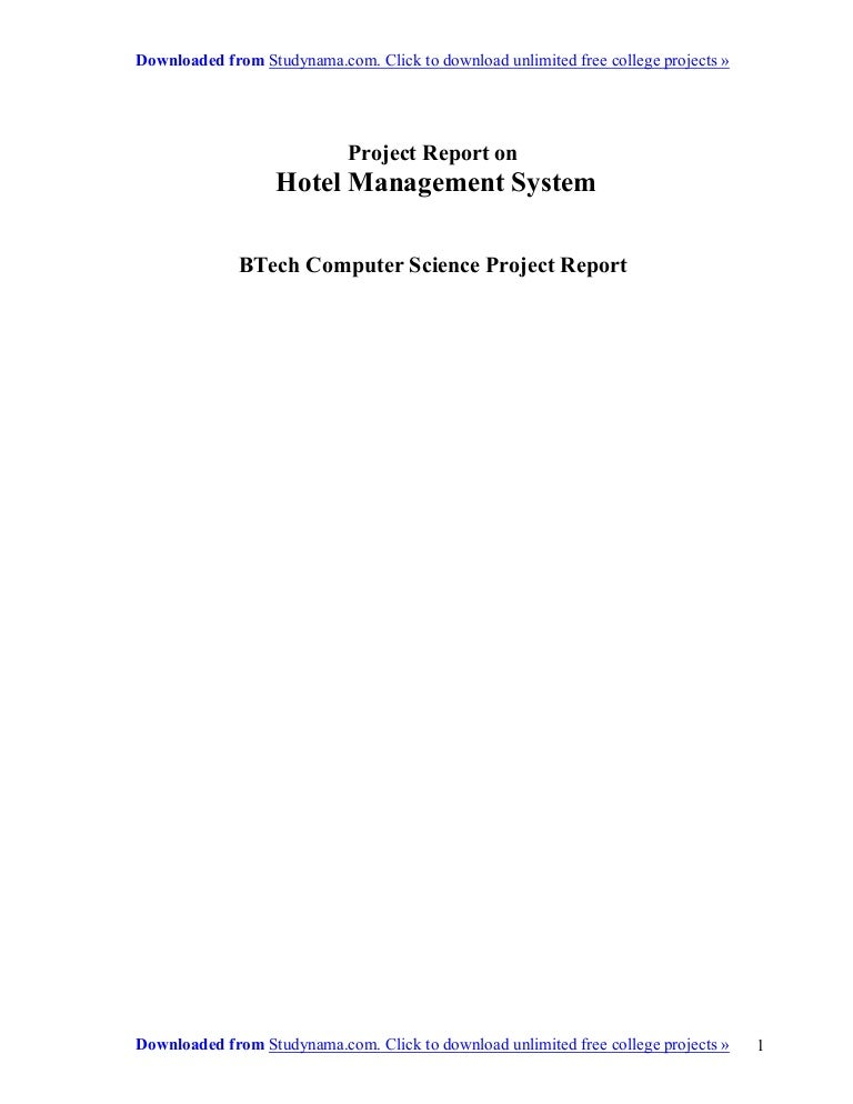 Hotel management system vb summer training project report for b tech …