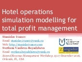Hotel operations simulation modelling for total profit management