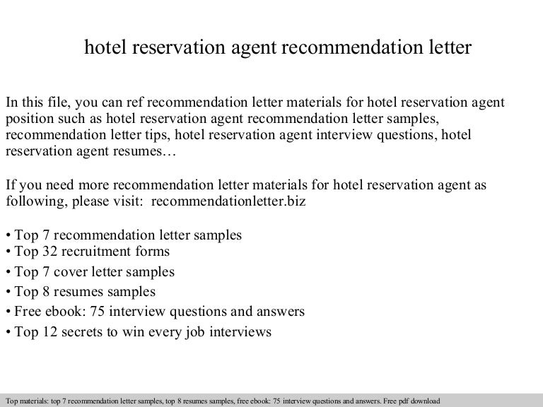 Reservation letter hotel reservations agent interview questions reservation letter hotel reservations agent interview questions reference letter for a student reference letters free premium templates sample reservation spiritdancerdesigns Images
