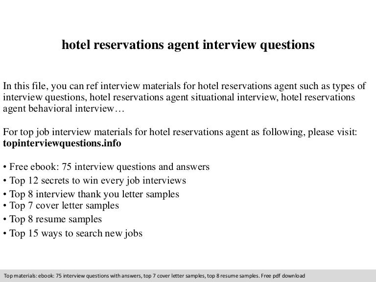 Hotel Reservations Agent Interview Questions