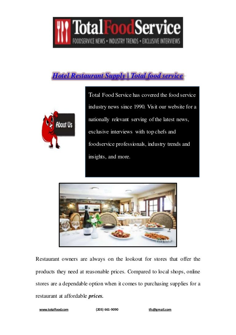 Hotel Restaurant Supply Total Food Service