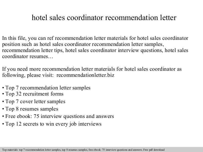 hotelsalescoordinatorrecommendationletter 140826221944 phpapp01 thumbnail 4jpgcb1409091607