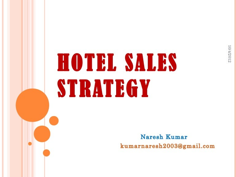 Hotel sales strategy