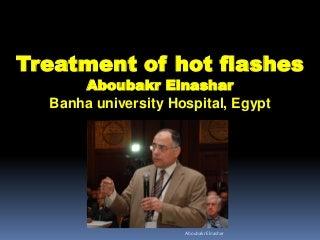 Treatment of hot flushes