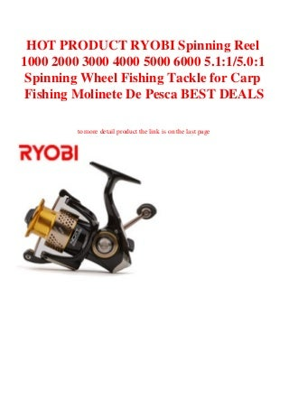 HOT PRODUCT RYOBI Spinning Reel 1000 2000 3000 4000 5000 6000 5.115.01 Spinning Wheel Fishing Tackle for Carp Fishing Molinete De Pesca BEST DEALS