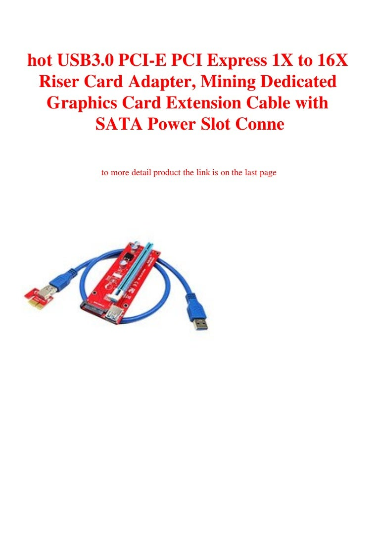 PCI-E 1X to 16X Extension Cable PCIE USB3.0 Mining Adapter Card Extension Cable