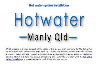 Hot water repairs in manly
