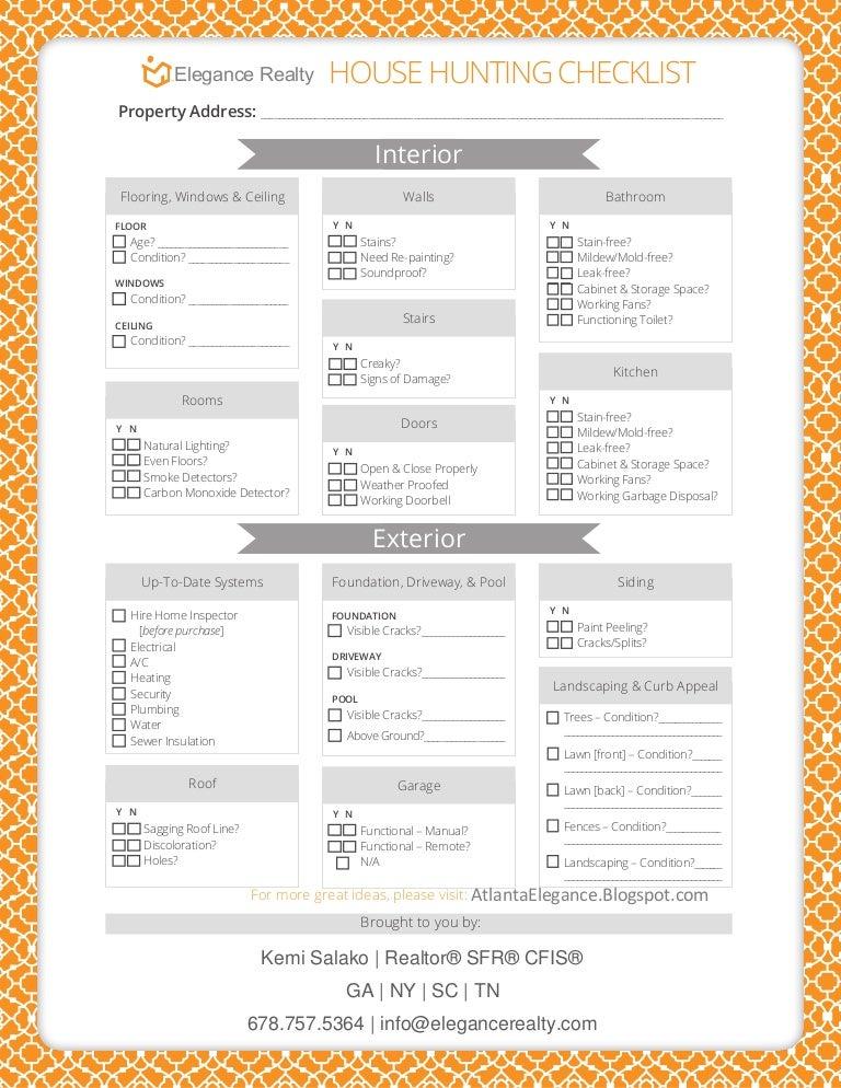 house buying checklist usa hunting printable thumbnail home